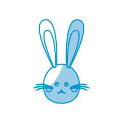 cute head bunny easter character vector illustration