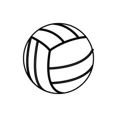 volleyball ball sport play equipment line vector illustration