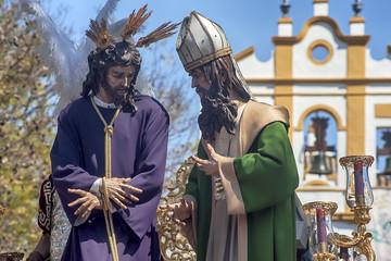 Fototapete - Jesús ante caifás, hermandad de San Gonzalo, semana santa de Sevilla