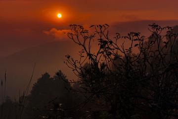 Zachód słońca, Nagarkot, Nepal