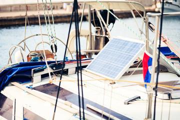 Solar Panels On Yacht