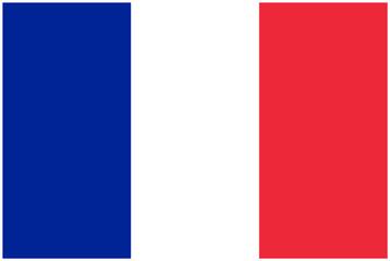 Frankreich Flagge - Vektorgrafik