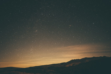 stars over the mountain