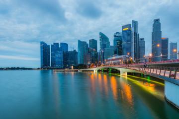 Cityscape of The Marina Bay and Singapore City