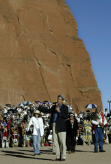 John Kerry speaks at inter-tribal ceremonial powwow in Gallup New Mexico.
