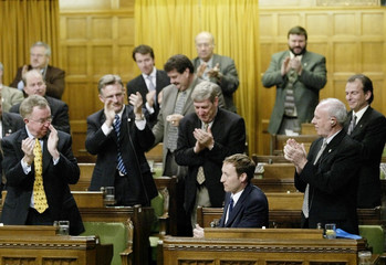 NEWLY ELECTED CONSERVATIVE LEADER MACKAY RECEIVES STANDING OVATION INHOUSE OF COMMONS.