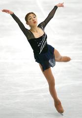 FUMIE SUGURI OF JAPAN PERFORMS AT THE WORLD FIGURE SKATINGCHAMPIONSHIPS IN NAGANO.