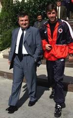 ALBANIAN PM META SPEAKS WITH ALBANIAN CAPTAIN VATA.