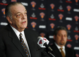 Walsh speaks during a news conference announcing his hiring as the New York Knicks president of basketball operations in New York