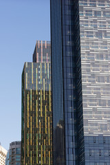 Glass Metal Buildings Architecture Late Afternoon Seattle Washington