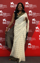 """Sri Lankan actress Kaushalya Fernando attends the photocall of """"Ahasin Wetei"""" during the 66th Venice Film Festival"""