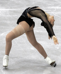 ARAKAWA FROM JAPAN PERFORMS IN THE WOMEN'S FREE SKATING COMPETITION AT THE WORLD FIGURE SKATING ...
