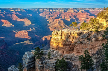 Golden Hour at Bright Angel Trail -Grand Canyon, Arizona