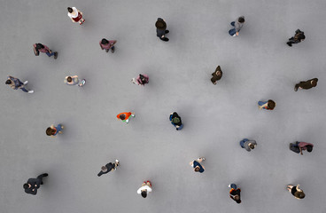 people viewed from above