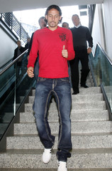 Former German national soccer team player Kuranyi arrives for a news conference in Gelsenkirchen