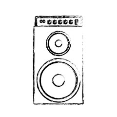 speaker bass icon over white background. vector illustration