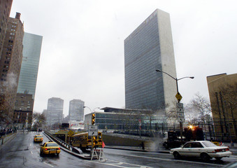 STREETS NEAR UNITED NATIONS REOPENED AS SECURITY IS EASED.