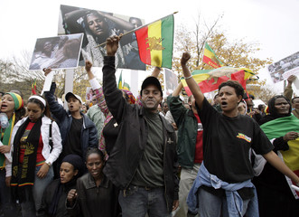 Ethiopian Americans protest outside the State Department in Washington