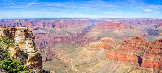Panoramic views of Grand Canyon from Mather Point