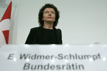 Swiss Minister of Justice Widmer-Schlumpf attends a news conference in Bern