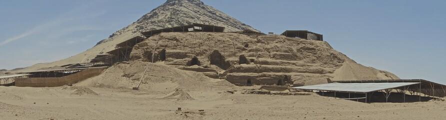 Huaca de la Luna archaeological complex, near Trujillo, La Libertad Province, Peru