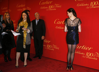 Actress Anne Hathaway arrives for the Cartier 100th Anniversary in America Celebration event in New York