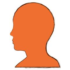 Male head silhouette icon vector illustration graphic design