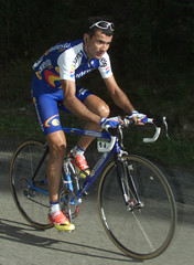SPAIN'S BLANCO RIDES ON HIS WAY TO WIN TOUR OF SPAIN 10TH STAGE.