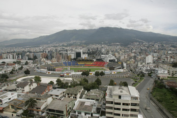 An overview of Atahualpa Stadium in Quito