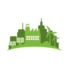 Green city environment icon vector illustration graphic design