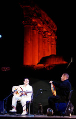 TUNISIAN ARTIST BRAHEM PLAYS AT BAALBEK FESTIVAL.