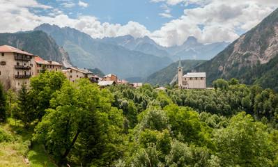 Church at Valle di Cadore, Belluno, Italy.
