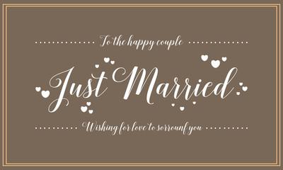 Vector wedding card design style