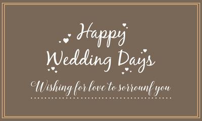 Happy wedding card design style
