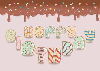 Happy Birthday. White Chocolate Donuts