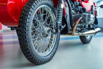 Close up shot motorcycle engine