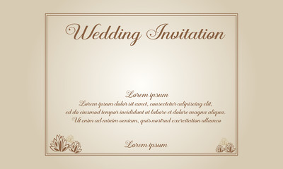 Collection stock of wedding invitation or card style