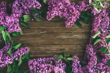 Wall Murals Lilac The beautiful lilac on a wooden background