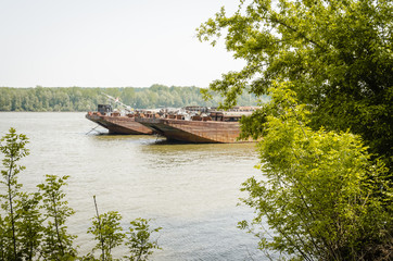 Tankers on the Danube river