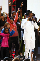 Musician will.i.am performs during the Neighborhood Inaugural Ball in Washington