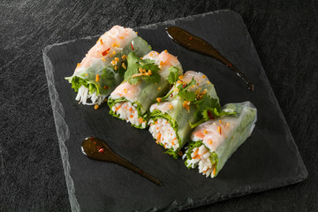 生春巻き Thai country spring roll