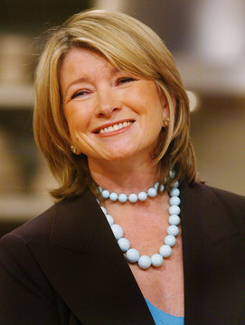 """Martha Stewart smiles during news conference for TV show """"Martha"""" in New York."""