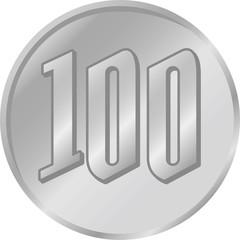 硬貨 100円 イメージイラスト