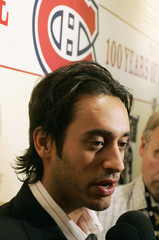 Mike Ribeiro talks to the media in Montreal after being traded to the Dallas Stars