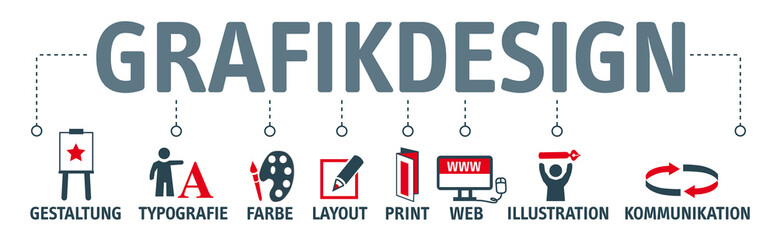 Banner Grafikdesign Konzept