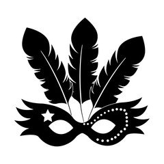 Carnival mask isolated icon vector illustration design