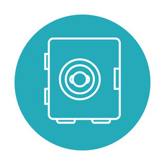 safe money box isolated icon vector illustration design