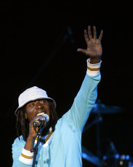 Ivory Coast reggae star Alpha Blondy performs during his concert in Madrid