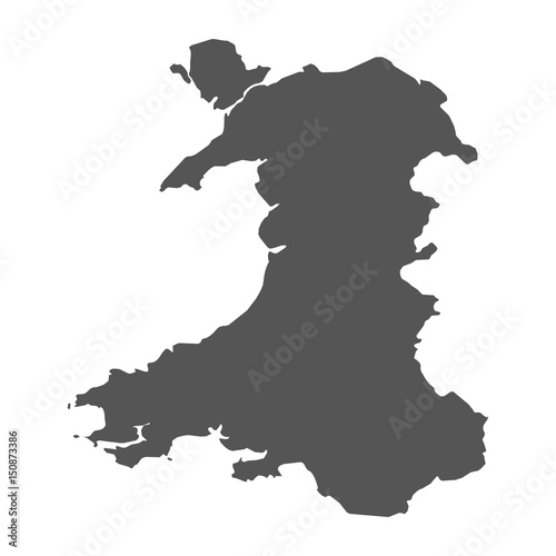 Wales vector map black icon on white background stock image and wales vector map black icon on white background gumiabroncs Image collections