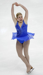 Flatt of the US competes in the Ladies Free Programme at the ISU Grand Prix of Figure Skating Cup of Russia in Moscow